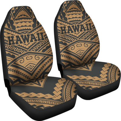 Hawaii Tribal New Warrior Style Polynesian Golden Car Seat Covers