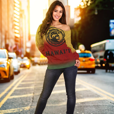 HAWAII KING KAMEHAMEHA HOODIE HADO Shoulder Sweater