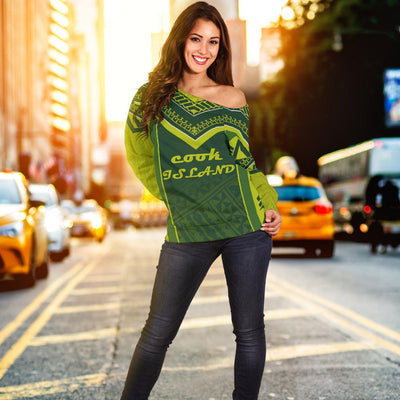 COOK ISLAND POLYNESIAN Off Shoulder Sweater - luxamz