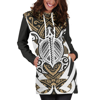 Hawaii Turtle Tribal Hoodie Dress