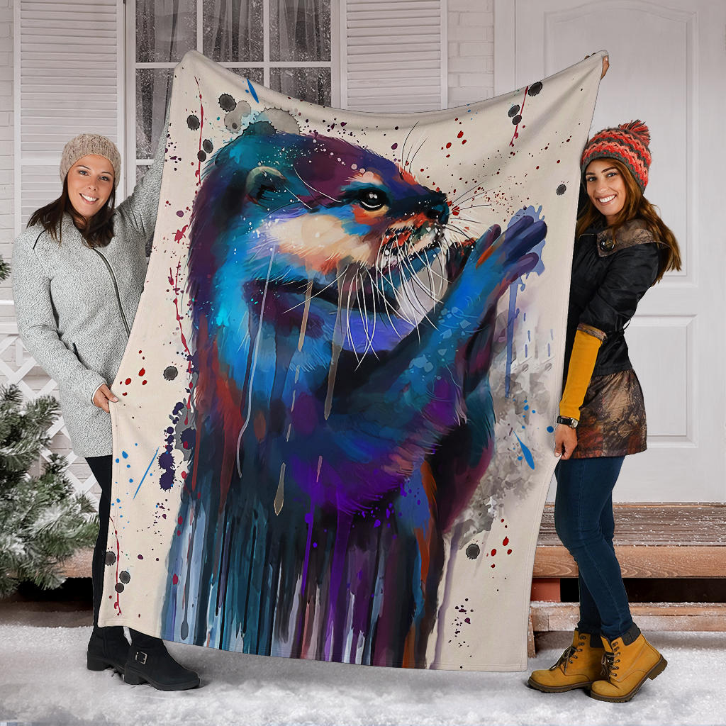 Otter lovers premium blanket
