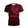 Samoa Polynesian Pattern Red all over print