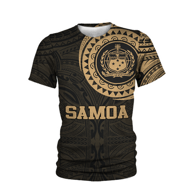 Samoa Polynesian Pattern Gold all over print