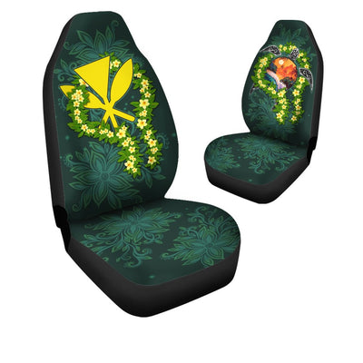 Polynesian Hawaii Ti Leaf Lei Turtle Car Seat Cover - luxamz