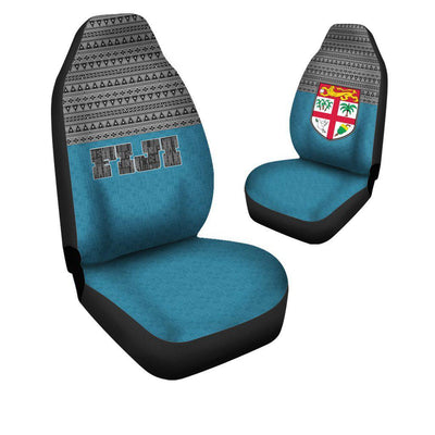 Fiji Tapa Flag Car Seat Cover