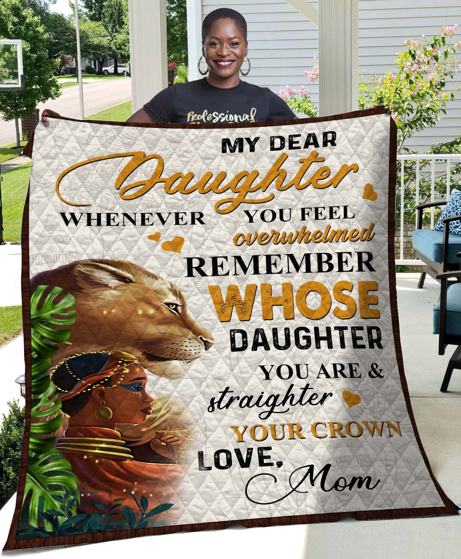 Lion Whenever You Feel - MomTo Daughter Quilt