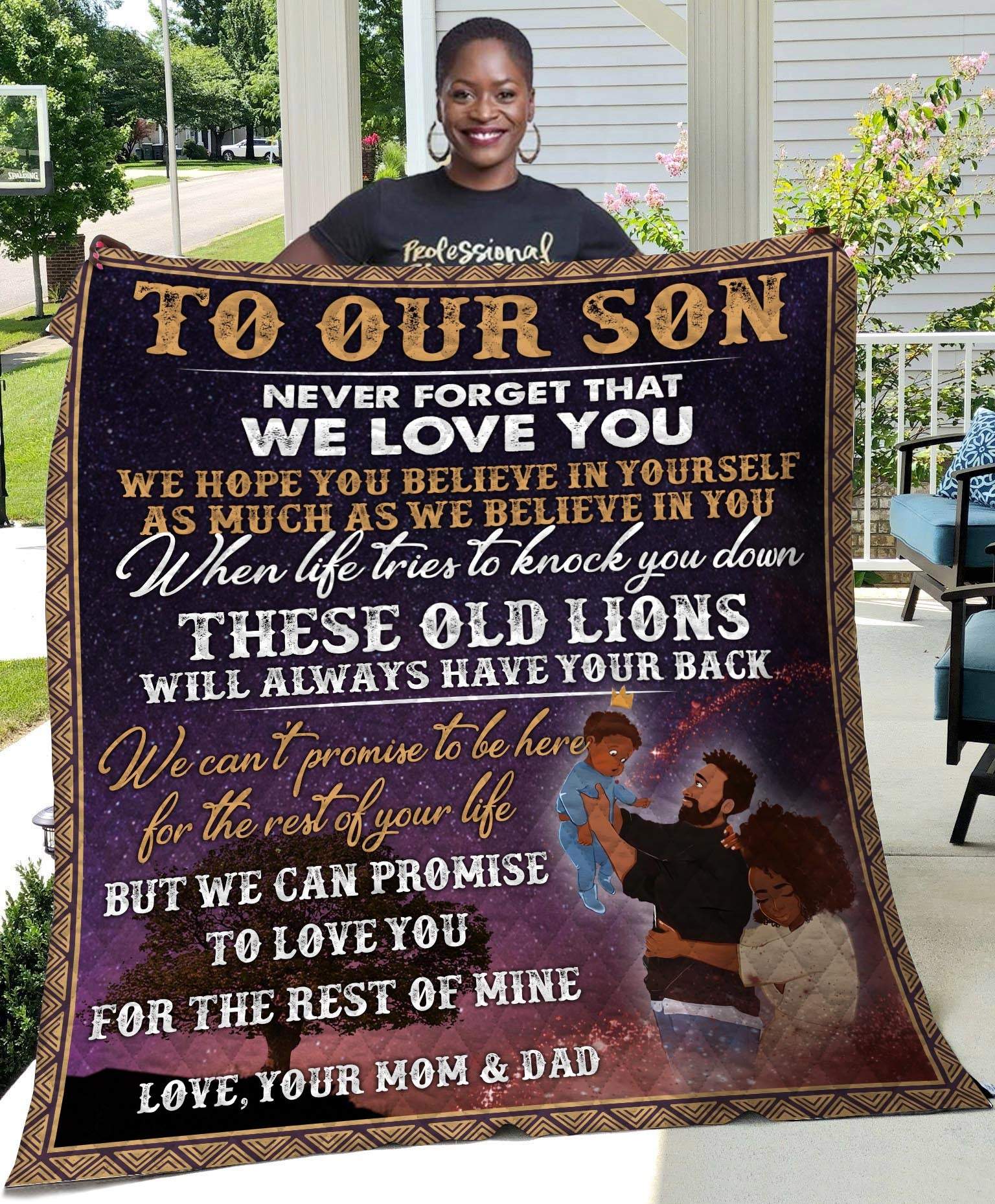 To Our Son From Mom _ Dad Quilt - luxamz