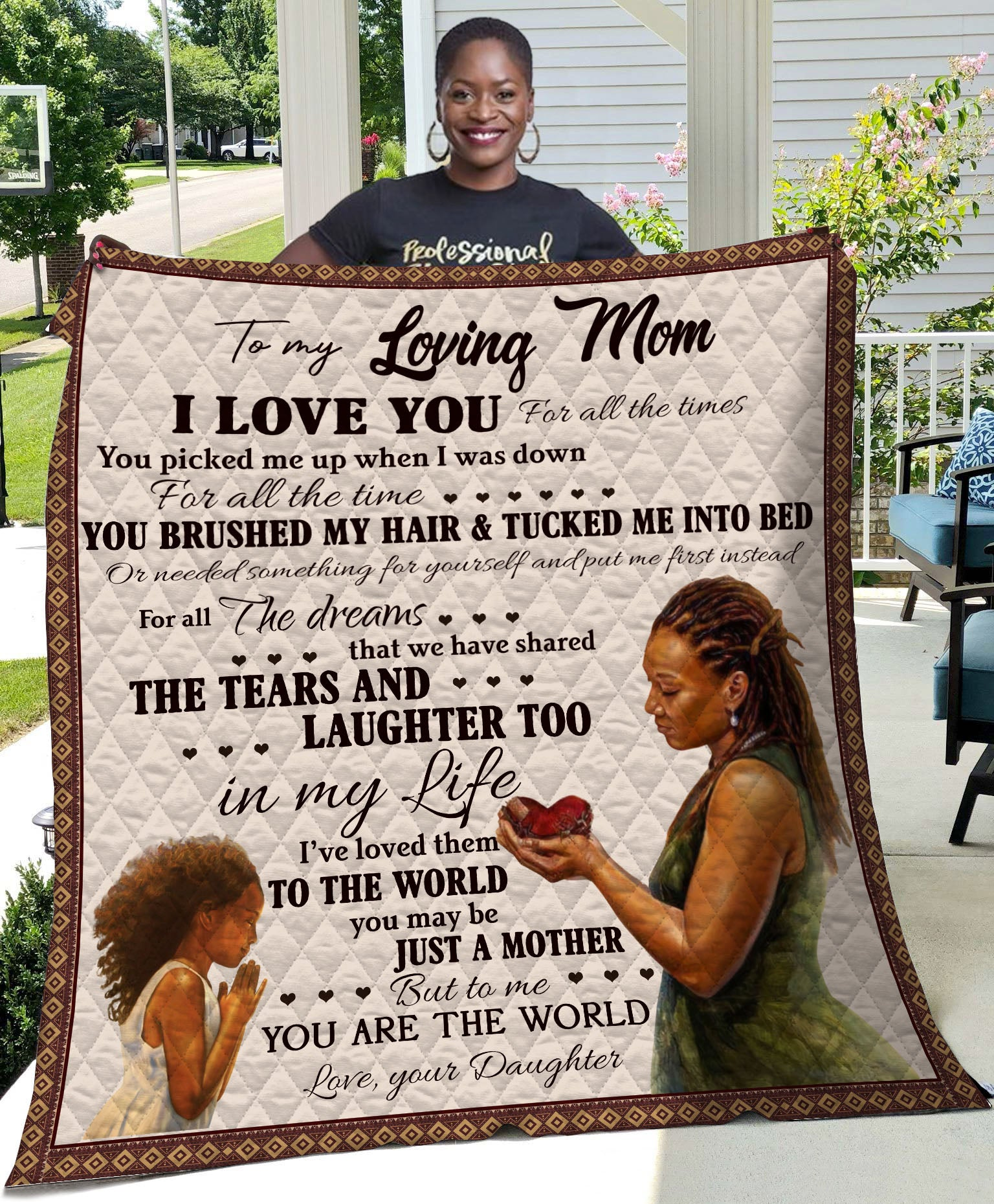 My Loving Mom Gift for Mother Quilt - luxamz
