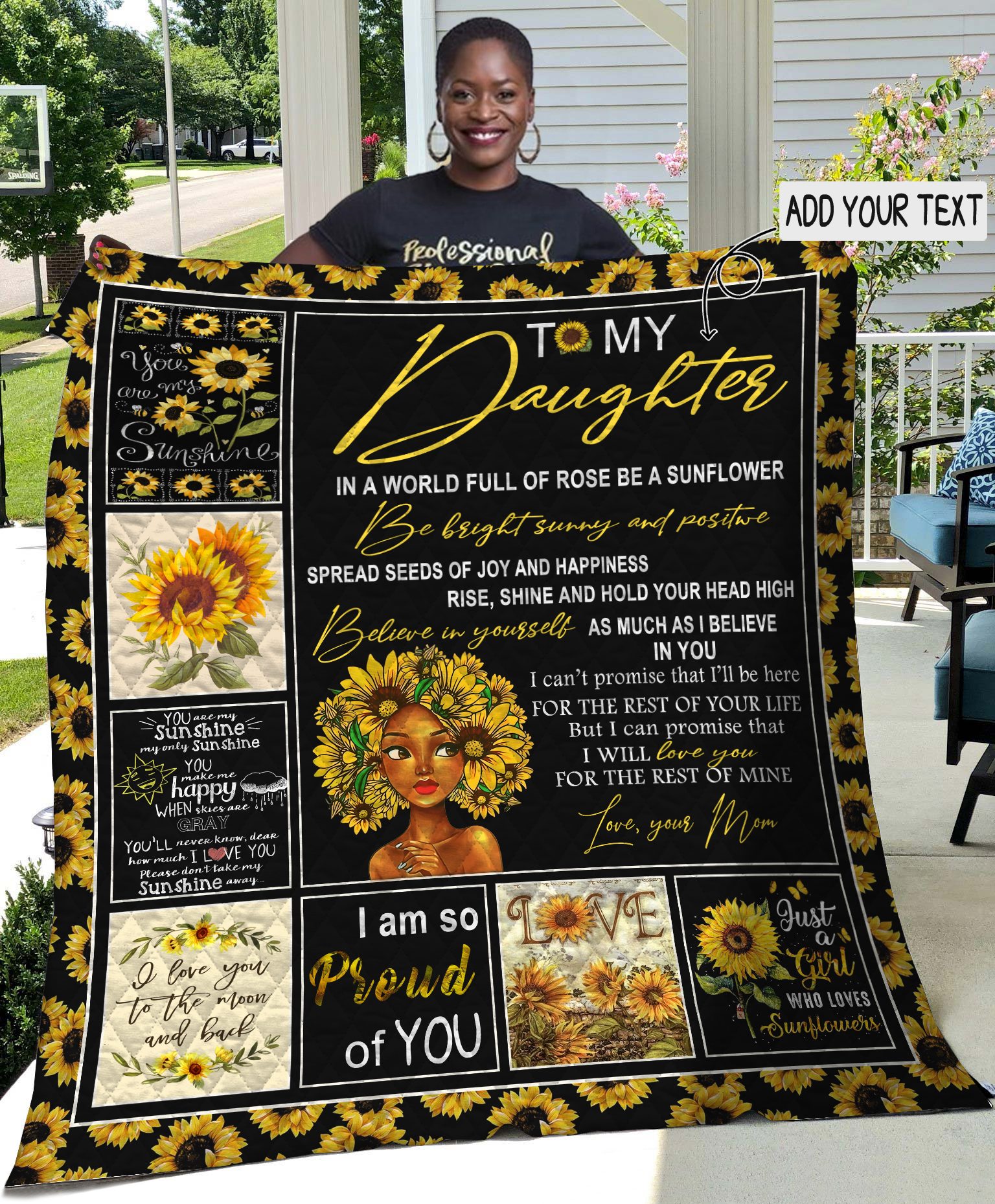 To My Daughter You Are My Sunflower Quilt