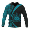 Samoa Polynesian Circle Style Blue Color Color all over print - luxamz