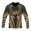 Hawaii Polynesian Gold in Style color all Over Print