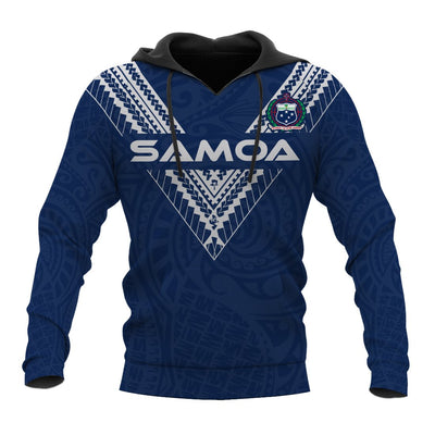 Samoa Polynesian Logo Pattern BLue Color all over print