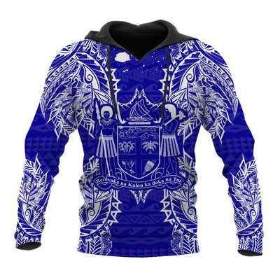 Polynesian Fiji Blue all over print - luxamz