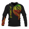 Samoa Polynesian cultural Black with pattern All Over Print