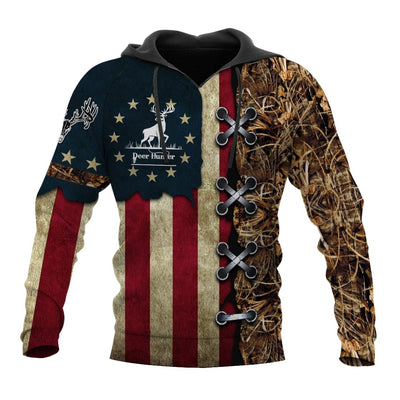 AMERICAN DEER HUNTER ALL OVER PRINT SHIRTS FOR MEN AND WOMEN