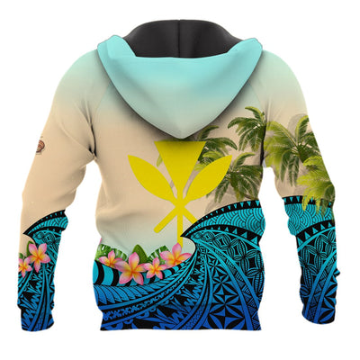 Kanaka Maoli Hawaiian- Polynesian Turtle Coconut tree And Plumeria all over print
