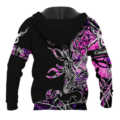 PINK COUNTRY GIRL ON BLACK ALL OVER PRINT SHIRTS FOR MEN AND WOMEN - luxamz