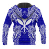 Polynesian Hawaii Blue all over print
