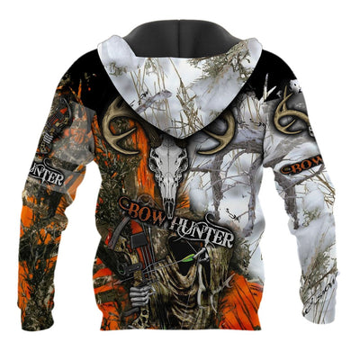 Grim Reaper Bow Hunter lover Camo All Over Printed Shirts For Men And Women