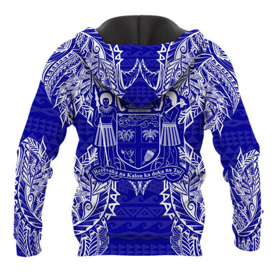 Polynesian Fiji Blue all over print