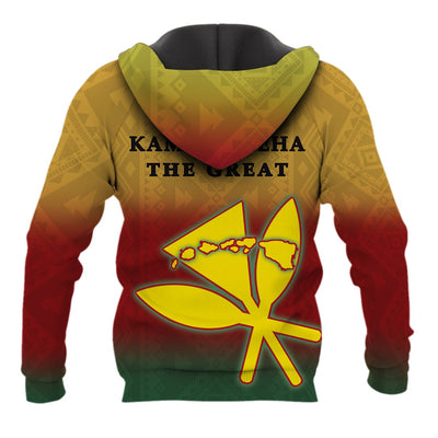 HAWAII KING KAMEHAMEHA HOODIE HADO ALL OVER PRINT - luxamz