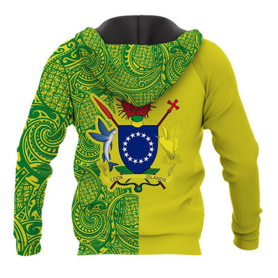 Cook Islands Coat Of Arms Polynesian Tattoo Half Style All Over Print - luxamz