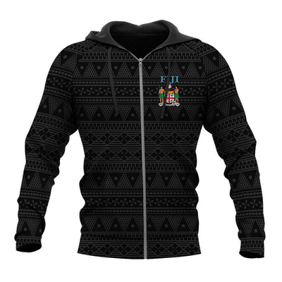 Fiji Tapa Flag Coat Of Arms All Over Print - luxamz