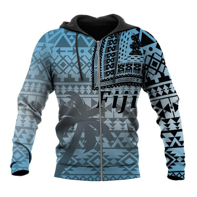 Fiji Tapa Hoodie Tattoo Style A7 All Over Print - luxamz