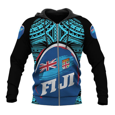 Fij Polynesian Pattern With Flag ALL OVER PRINT - luxamz