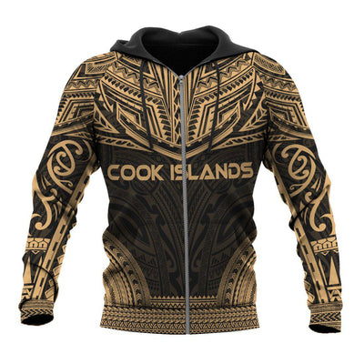 COOK ISLANDS Polynesian Chief Gold all over print - luxamz