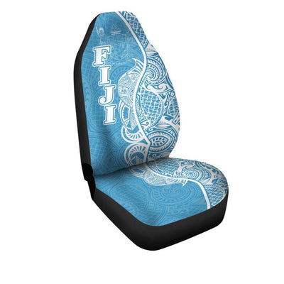 Fiji Polynesian Coconut palm with pattern curvey Hoodie Car Seat Cover