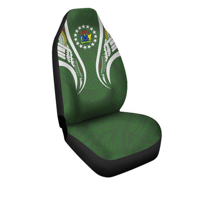 Cook island Seal Polynesian Stylized Car Seat Cover