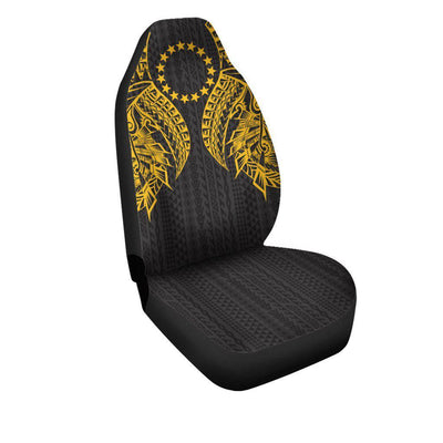 Cook islands Polynesian Lion Head Gold Style Car Seat Cover