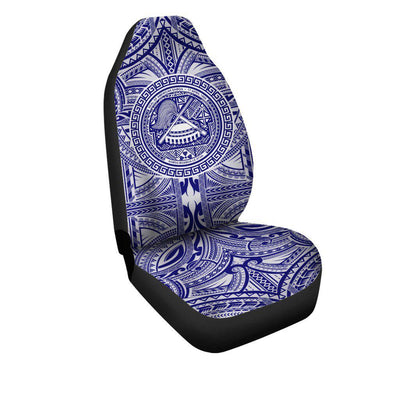 American Samoa Polynesian with pattern and Flag Color  Car Seat Cover