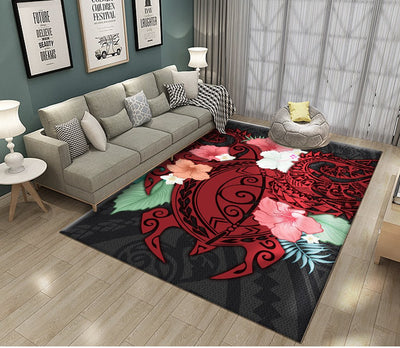 Hibiscus and Sea Turtle RUG