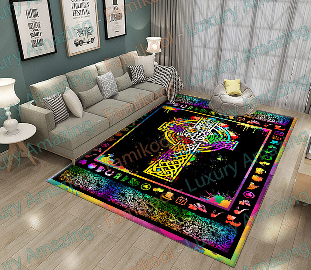 IRISH CROSS ART COLOR RUG