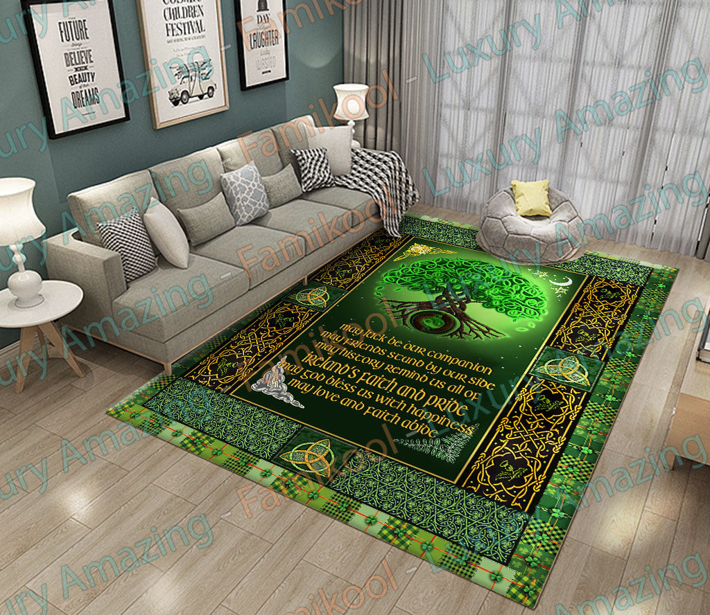 IRISH BLESSING GREEN RUG
