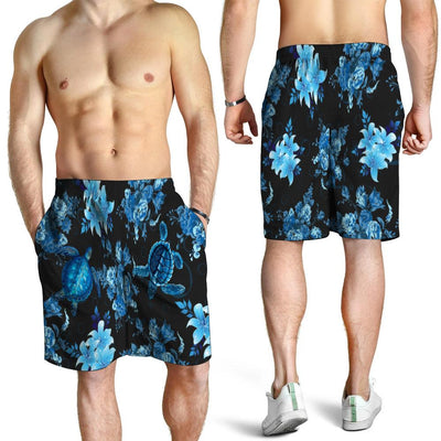 Blue Sea Turtle Hawaiian Shirt beach short