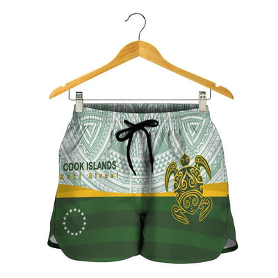 Cook Islands Flag Turtle Tattoo combo beach Shirt and Short all over print