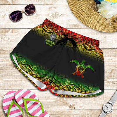 American samoa Polynesian Turtle Tattoo beach Short