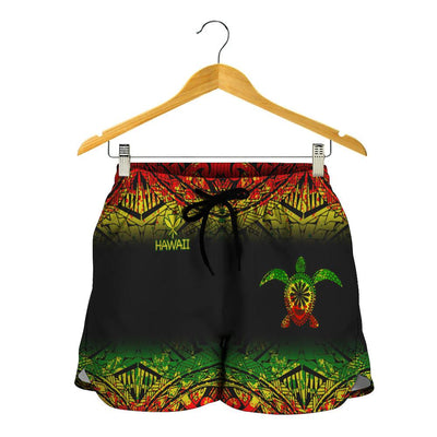 Hawaii Polynesian Turtle Tattoo beach Short - luxamz