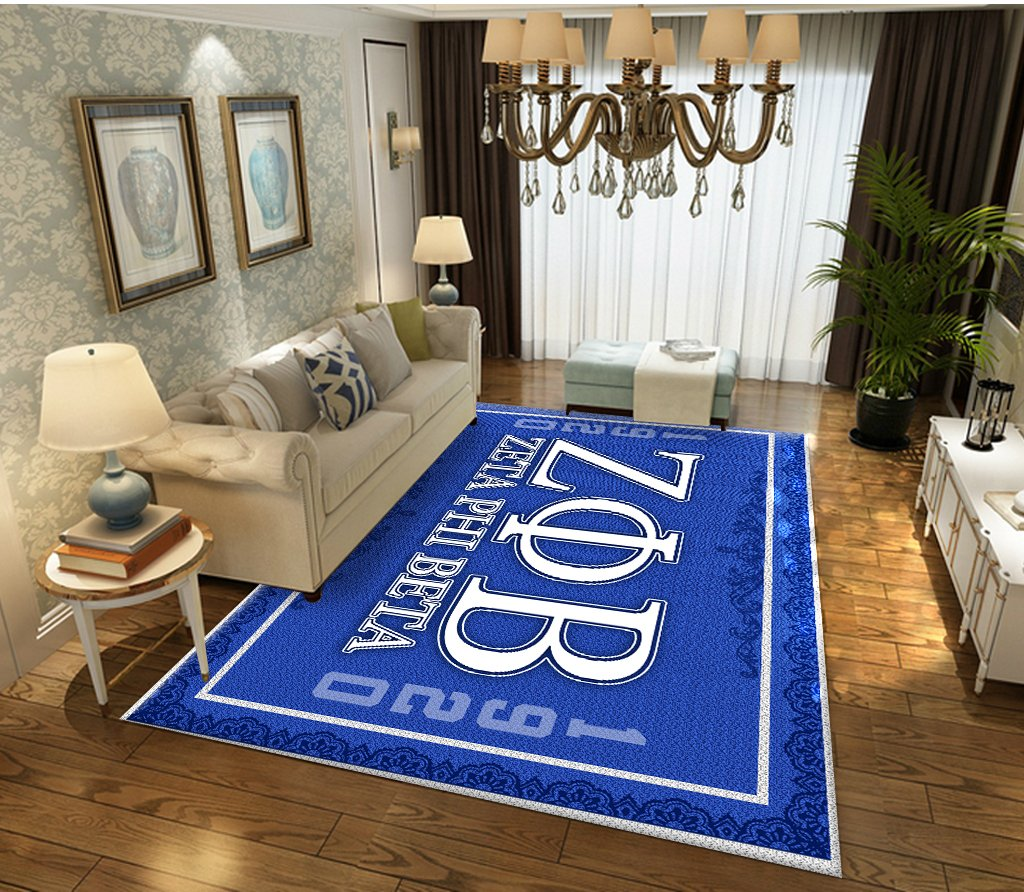 Zeta Phi Beta flower pattern RUG