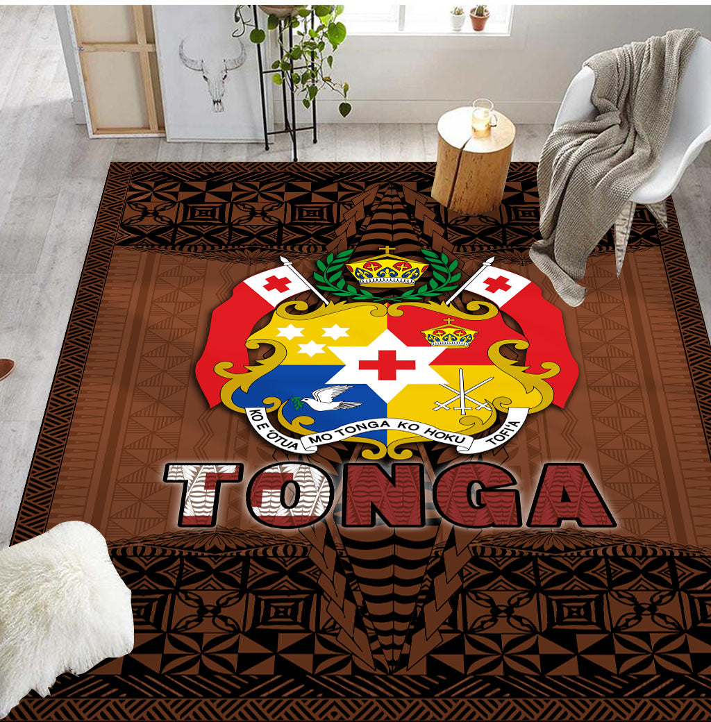 Tonga pollynesian Brown Color RUG - luxamz