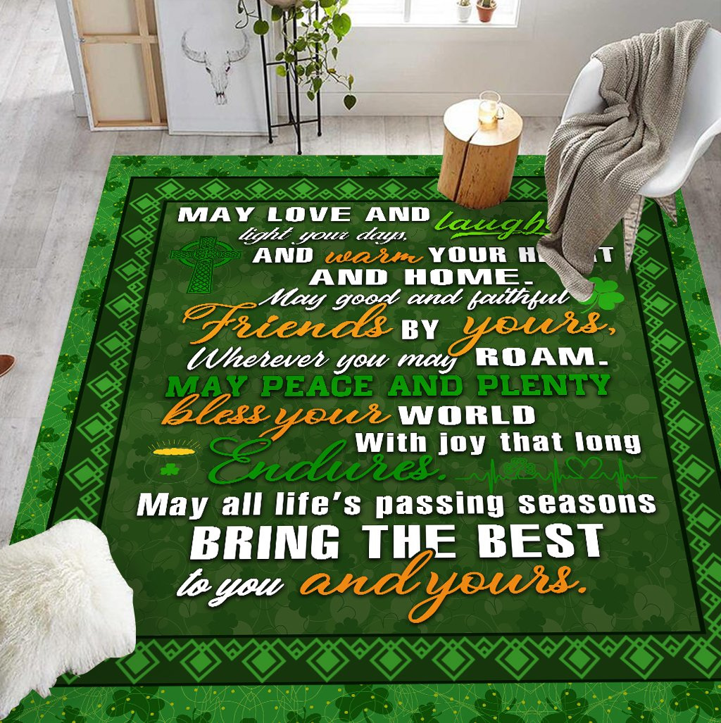 IRISH MAY LOVE AND LAUGHTER RUG