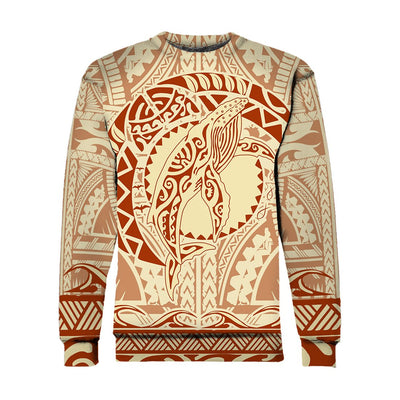 Hawaiian Polynesian Whale all over print