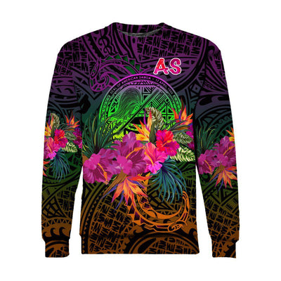 American Samoa Summer Hibiscus All Over Print - luxamz