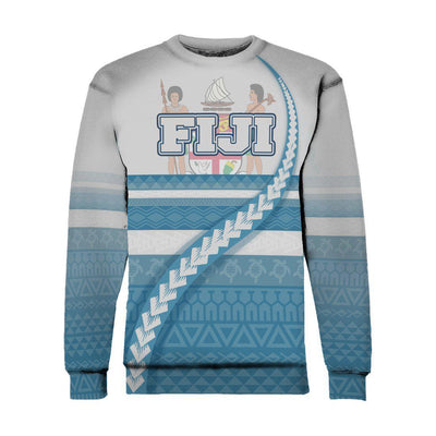 Fiji Coat Of Arms Tribal Line White Blue All Over Print