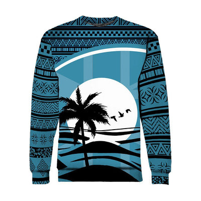 Fiji Flag Coconut Tree Tapa All Over Print