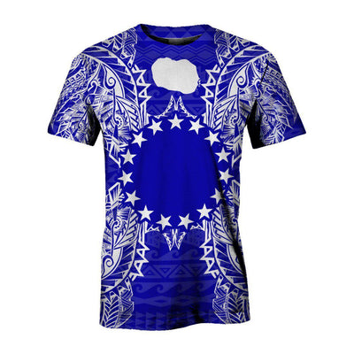 Polynesian Cook Islands Blue all over print