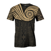 Samoa Polynesian Gold Heart Shield all over print
